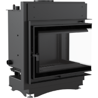 KRATKI MAJA 12 kW BS DECO teplovodní krbová vložka pravé sklo
