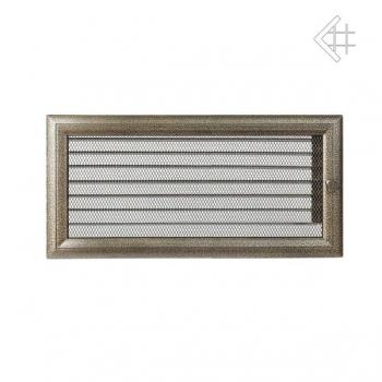 Krbová mřížka OSKAR - ČERNO-ZLATÁ 17x37 cm s žaluzií